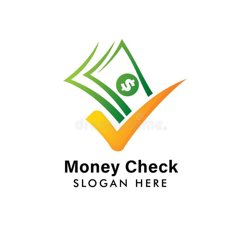 Gute Zahlungslogoschablone Bargeld-Ikonensymbolentwurf Geldkontrolllogoentwurf stock abbildung