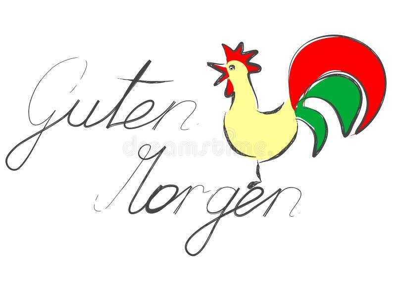 Download Guten Morgen stock vector. Illustration of tail, illustration - 17344779