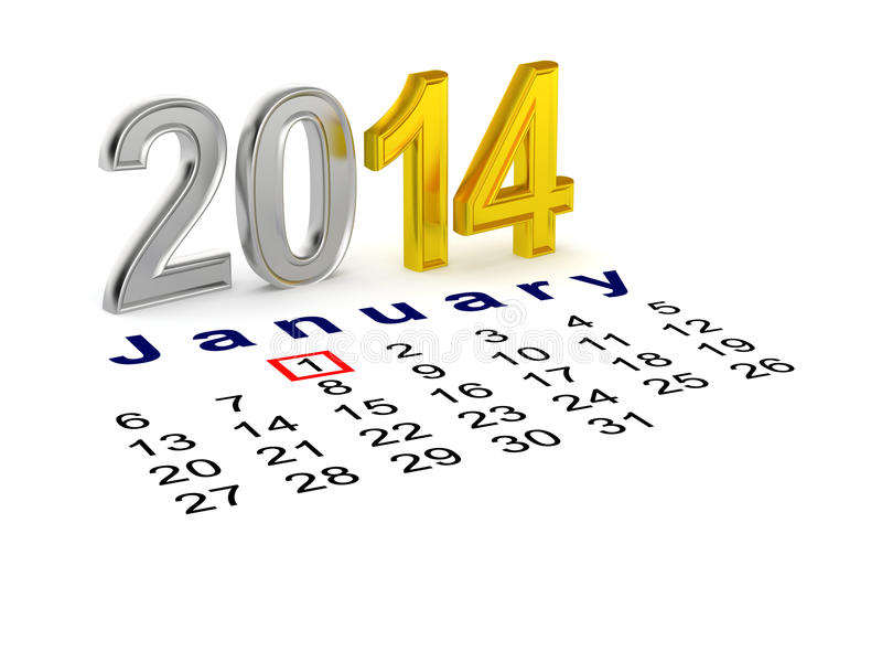 Guten Rutsch ins Neue Jahr 2014 lizenzfreie abbildung