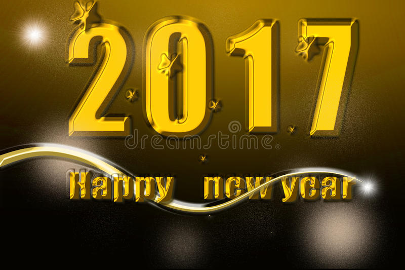 Guten Rutsch ins Neue Jahr 2017 lizenzfreie stockfotos