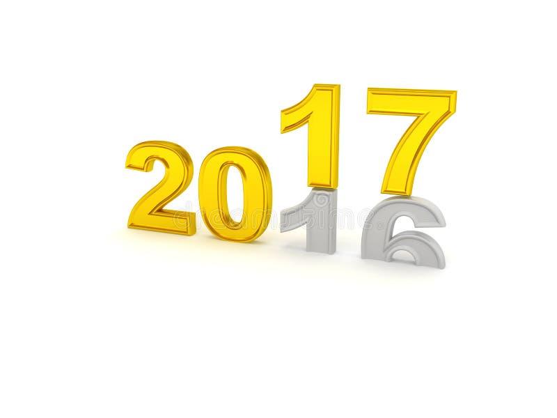 Download Guten Rutsch Ins Neue Jahr 2017 Stock Abbildung - Illustration von feier, ziffer: 96927014