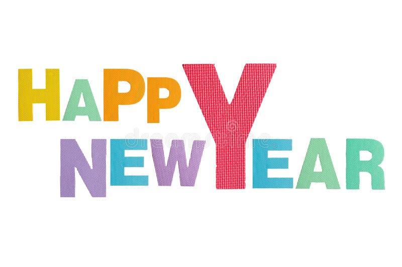 Guten Rutsch ins Neue Jahr Alphabet stockbilder