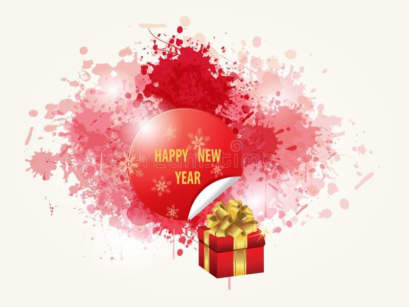 Guten Rutsch ins Neue Jahr Backround stock abbildung