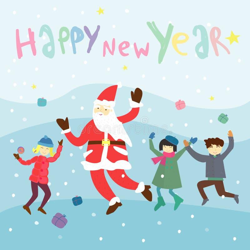Guten Rutsch ins Neue Jahr-Beschriftung Gruß-Karte lizenzfreie stockfotos