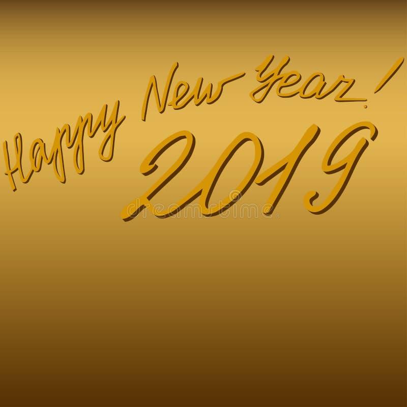 2019 guten Rutsch ins Neue Jahr - eine Glückwunschaufschrift vektor abbildung