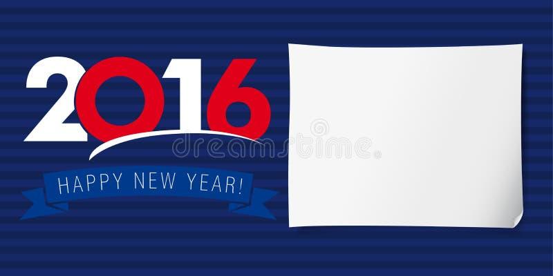 Guten Rutsch ins Neue Jahr-Fahne 2016 lizenzfreie abbildung