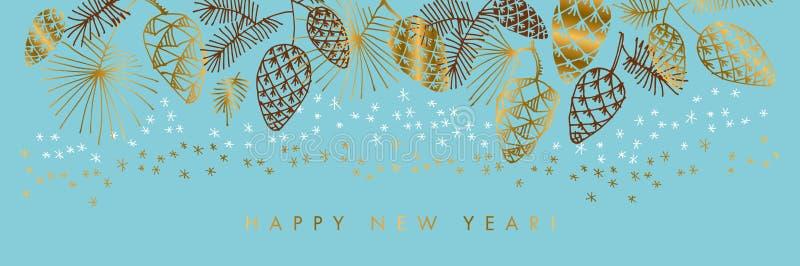 Guten Rutsch ins Neue Jahr-Farbvektor-Fahnenschablone vektor abbildung