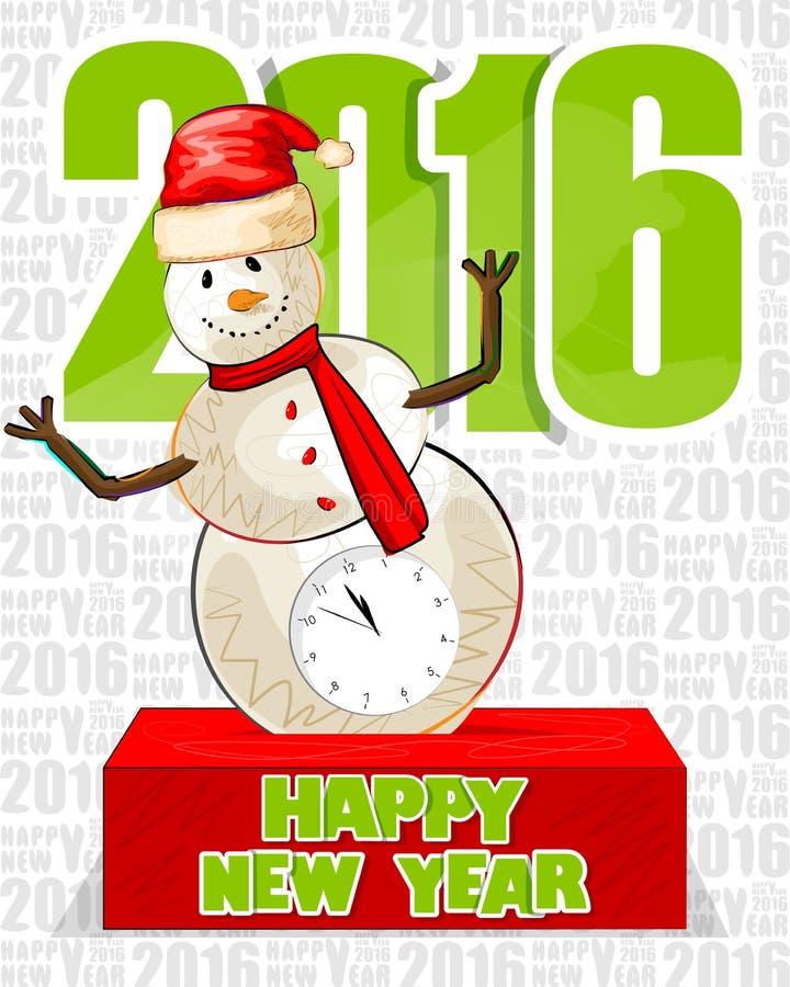 Guten Rutsch ins Neue Jahr-Feierhintergrund 2016 lizenzfreie abbildung
