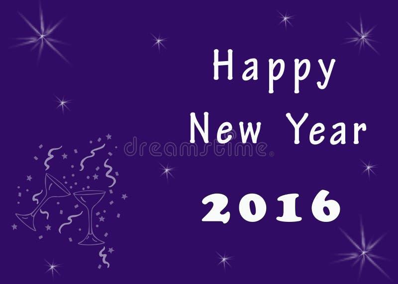 Guten Rutsch ins Neue Jahr-Grußbild lizenzfreies stockfoto