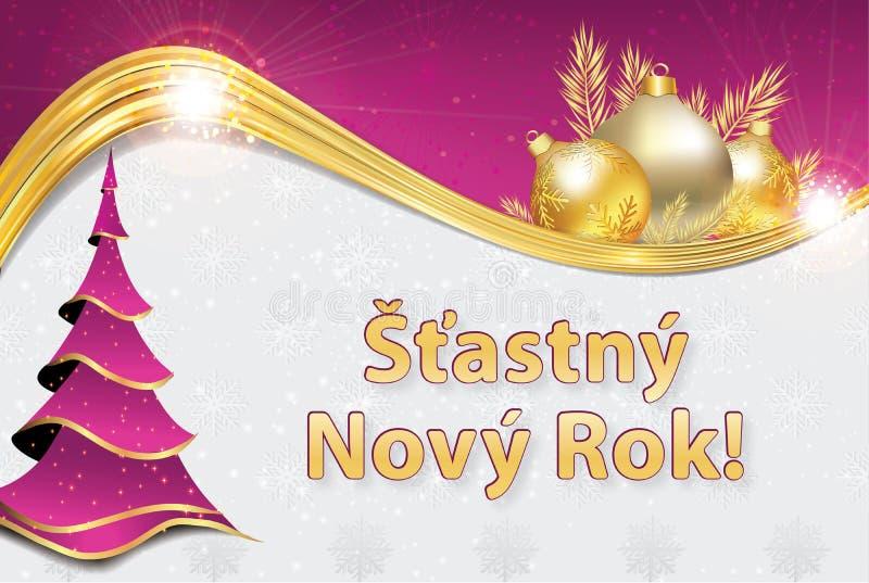 Frohe Weihnachten Und Ein Gutes Neues Jahr Tschechisch.Tschechisch Stock Illustrationen Vektors Klipart