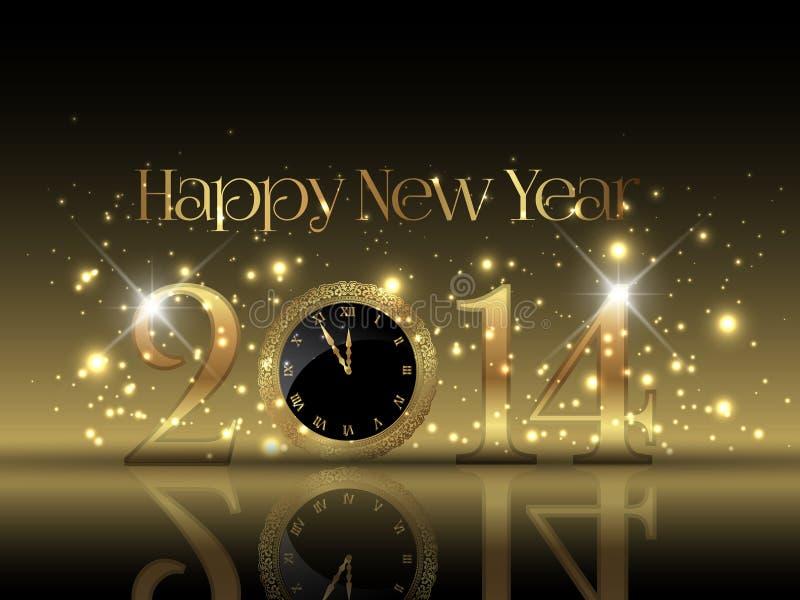 Guten Rutsch ins Neue Jahr-Hintergrund vektor abbildung