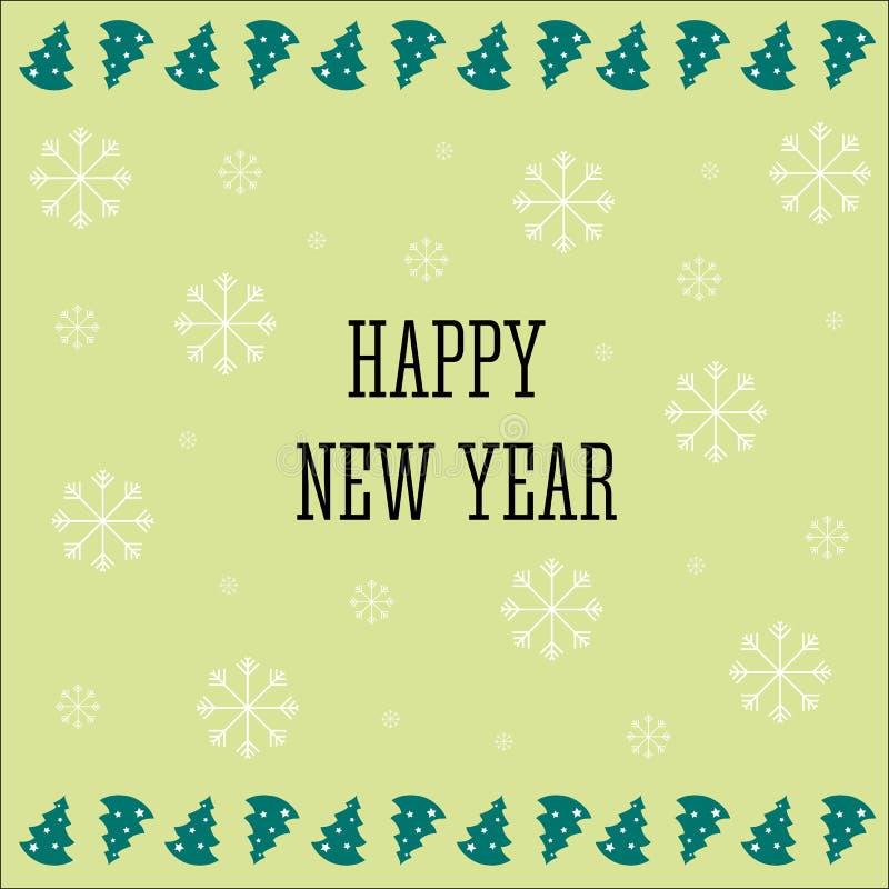 Guten Rutsch ins Neue Jahr-Hintergrund 2017 Kalenderschablone Bunt, Hand gezeichnetes Papierschriftbild auf Feierhintergrund glüc vektor abbildung