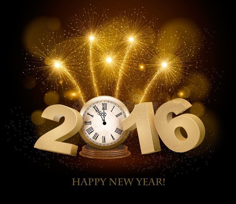 Guten Rutsch ins Neue Jahr-Hintergrund mit 2016 lizenzfreie abbildung