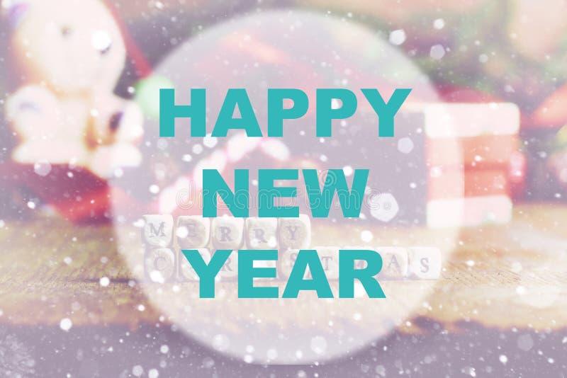 Guten Rutsch ins Neue Jahr-Hintergrundkreis stockbild