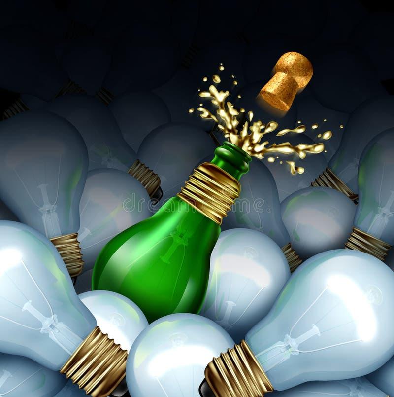Guten Rutsch ins Neue Jahr-Idee stock abbildung