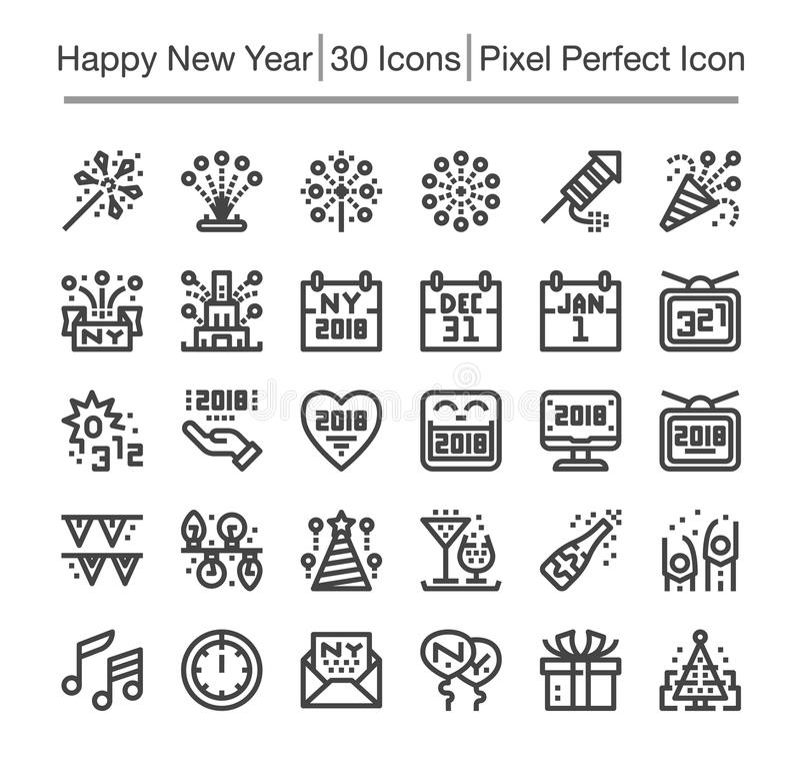 Guten Rutsch ins Neue Jahr-Ikone stock abbildung