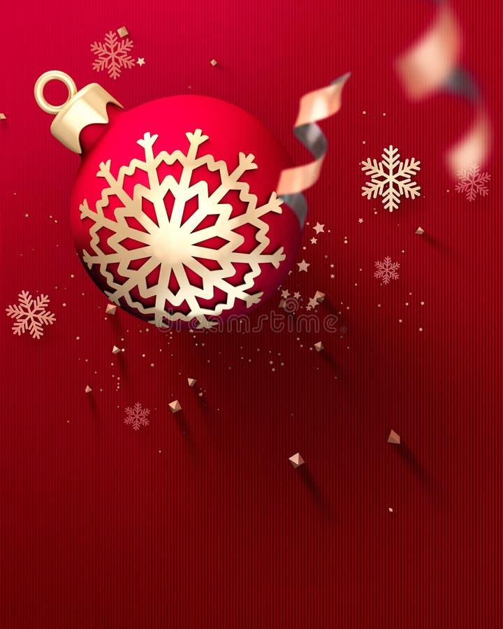 Guten Rutsch ins Neue Jahr-Partei-Einladungsflieger stock abbildung