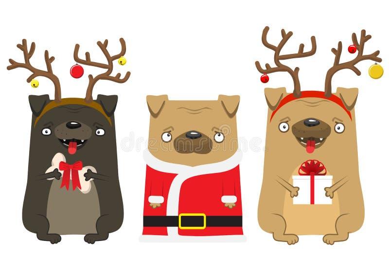 Guten Rutsch ins Neue Jahr ` s Hund Symbol des Jahres 2018 stock abbildung