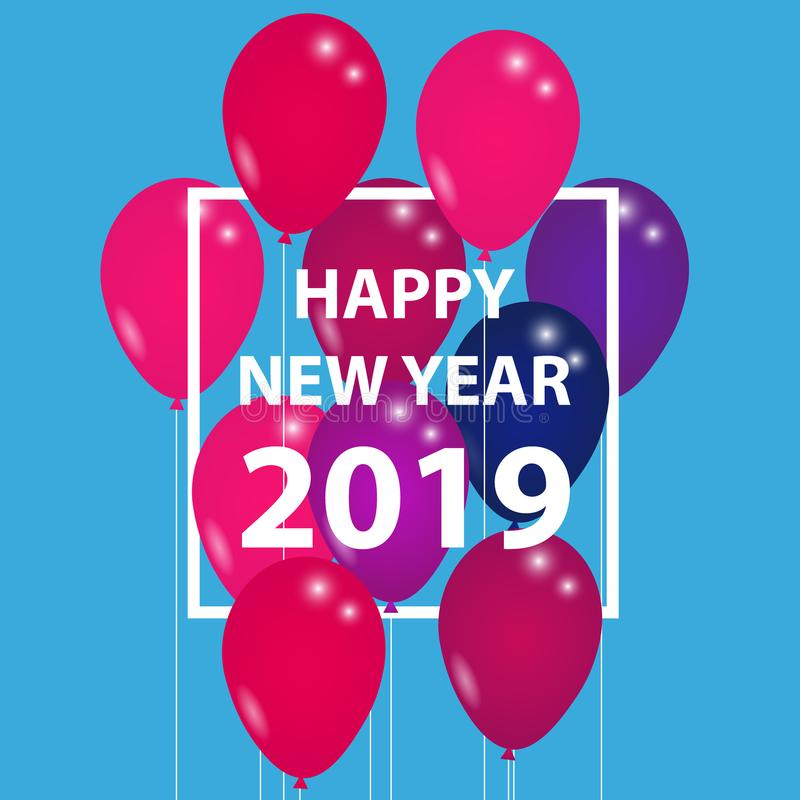 Guten Rutsch ins Neue Jahr 2019 - Vektor-Illustration stock abbildung