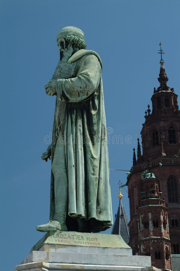 gutenberg μνημείο στοκ εικόνες με δικαίωμα ελεύθερης χρήσης