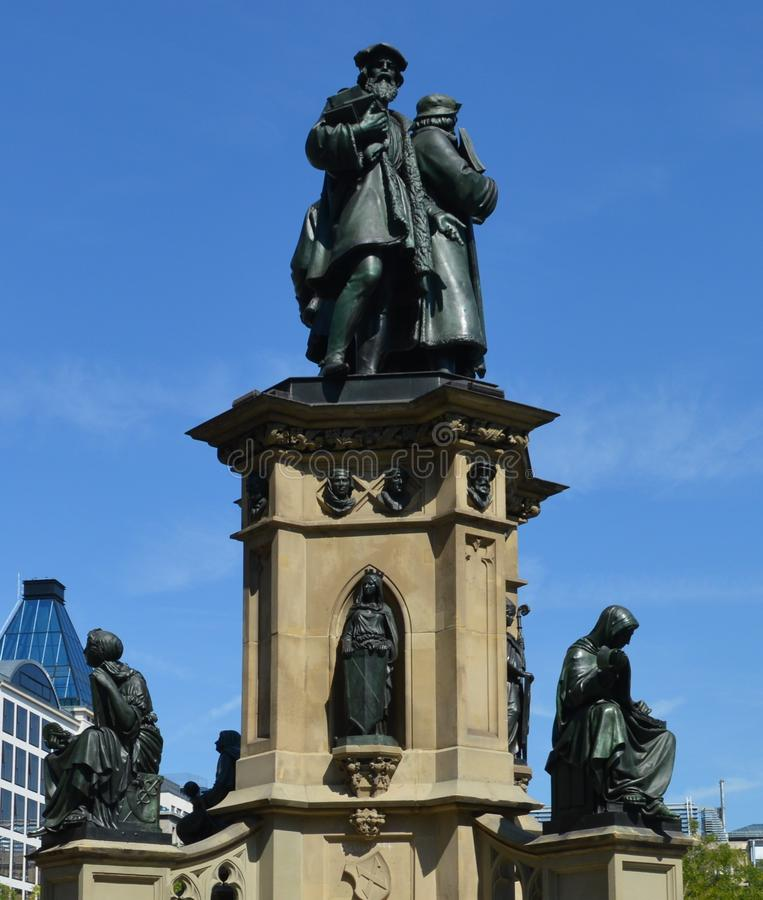 Gutenberg-Denkmal (Frankfurt am Main) lizenzfreies stockfoto