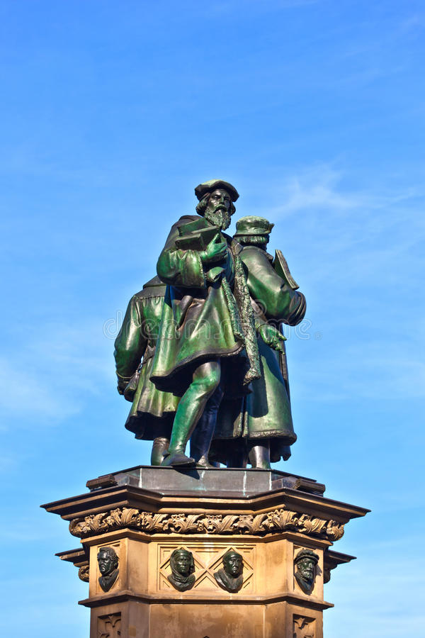 gutenberg inven Johannes statuę fotografia stock