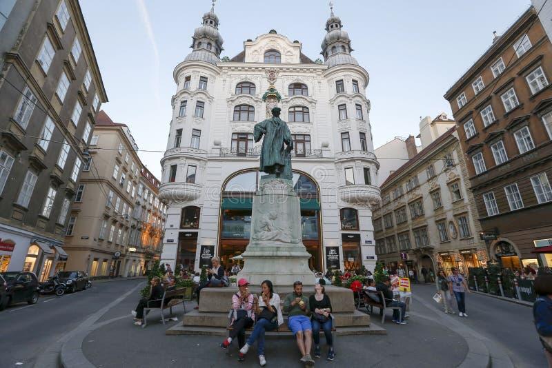 Gutenberggedenkteken in Wenen, Oostenrijk stock fotografie