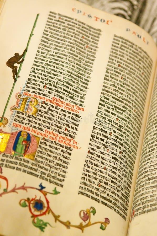 Gutenburg Bible Stock Image