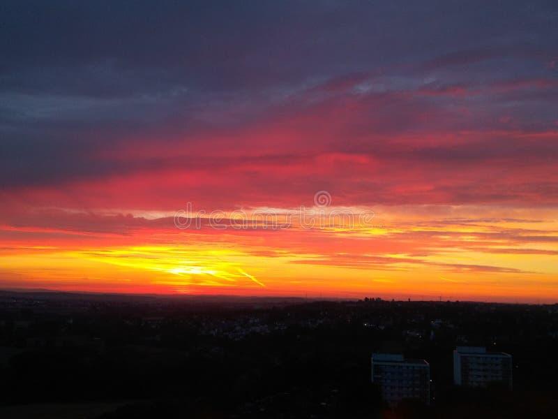 Gutenmorgen Frankfurt am Main lizenzfreies stockfoto