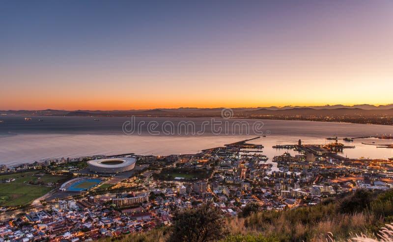 Gutenmorgen Kapstadt Südafrika stockbilder