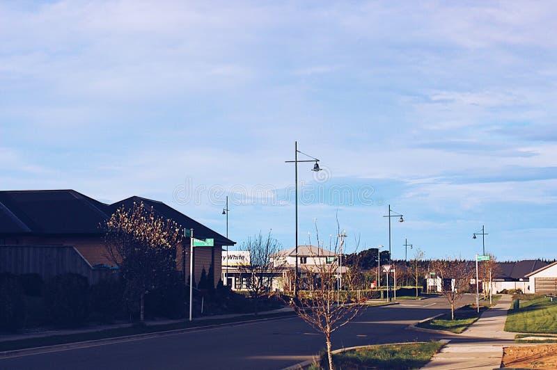 Gutenmorgen Neuseeland stockfotografie