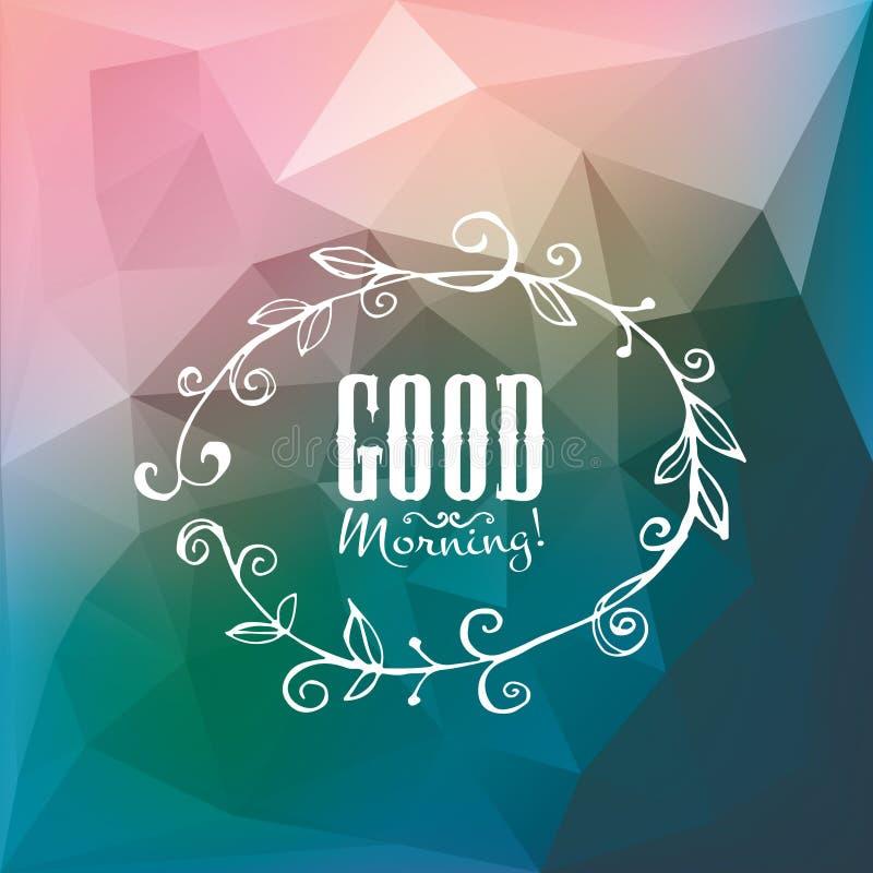 Gutenmorgen-Plakat Geschenk mit Liebe vektor abbildung