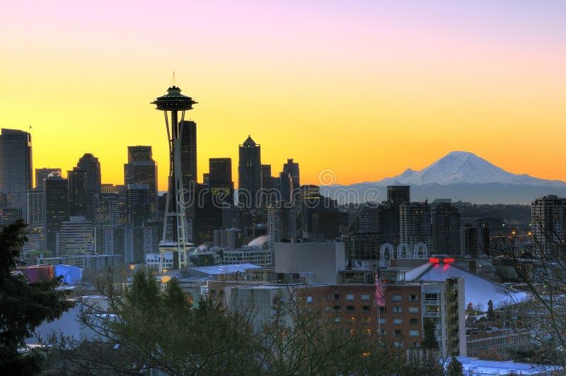 Gutenmorgen Seattle lizenzfreie stockfotos