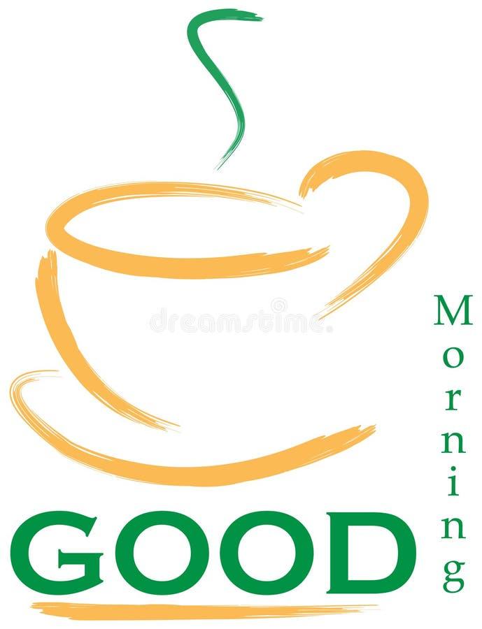 Gutenmorgen-Zeichen lizenzfreie abbildung