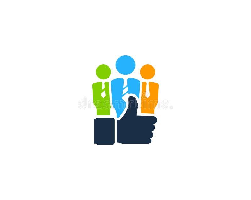 Guter bester Job Icon Logo Design Element stock abbildung