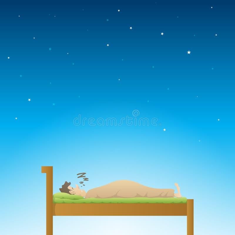 Guter Schlaf vektor abbildung