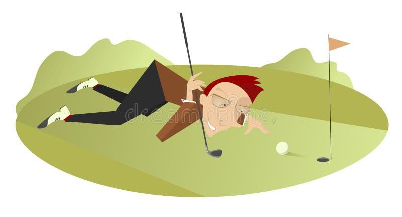 Guter Tag für das Spielen des Golfs lizenzfreie abbildung