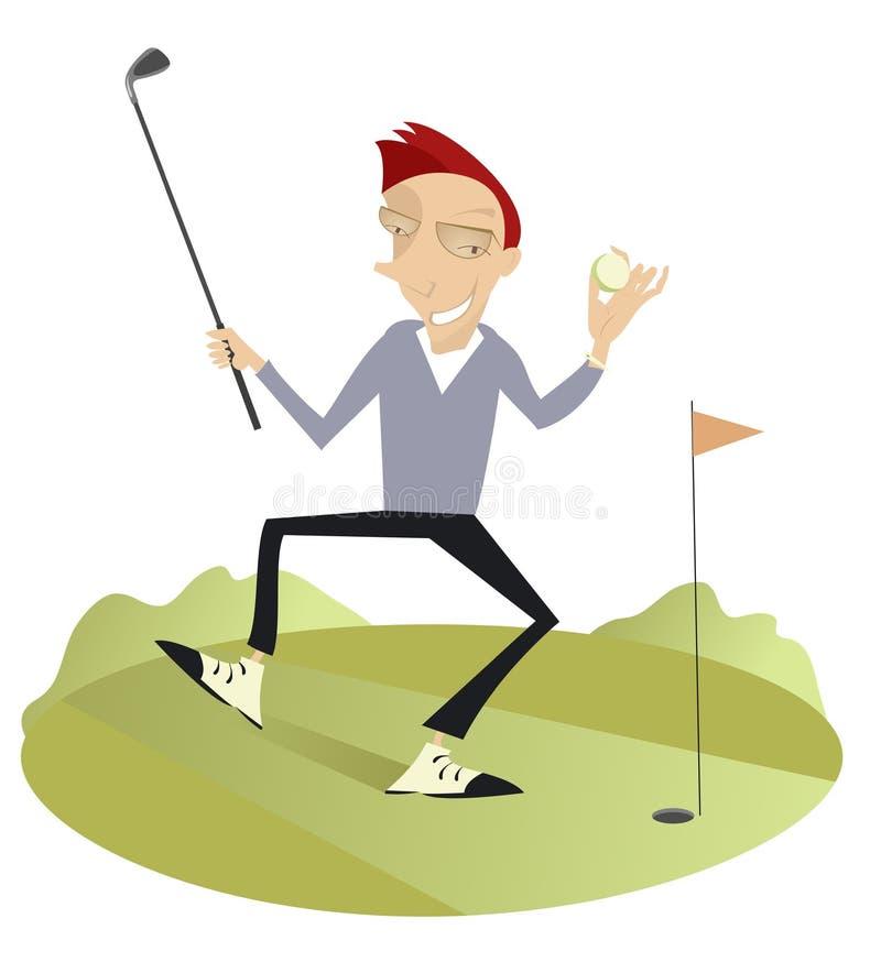 Guter Tag für das Spielen des Golfs stock abbildung