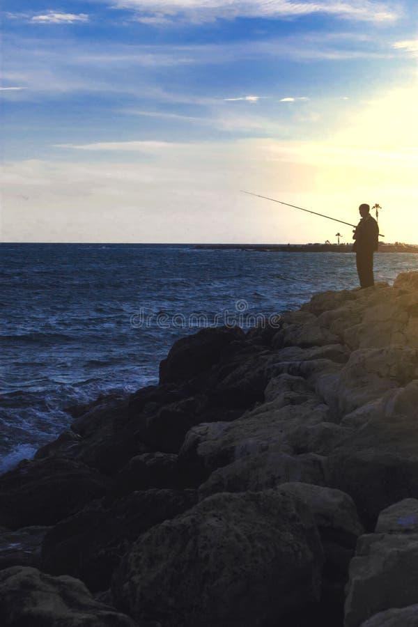 Guter Zeithimmel Fischer-Sea stockbild