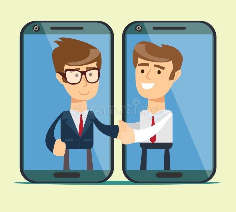 Gutes Abkommen Verhandlungen Geschäftsmann und Geschäftsmann Guter Profit stock abbildung