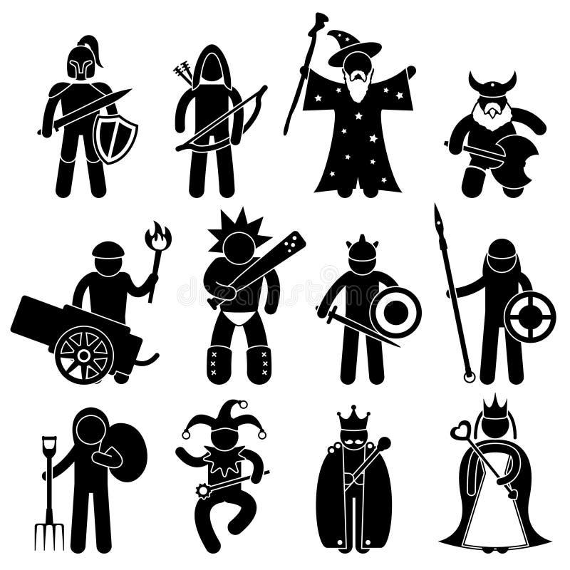 Gutes altes Krieger-Zeichen lizenzfreie abbildung