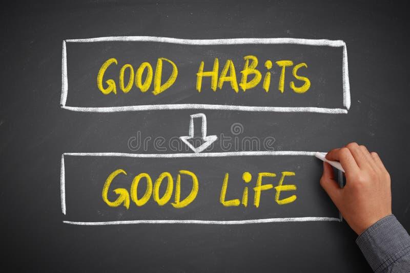 Gutes Gewohnheits-Ergebnis-angenehmes Leben lizenzfreie stockfotos