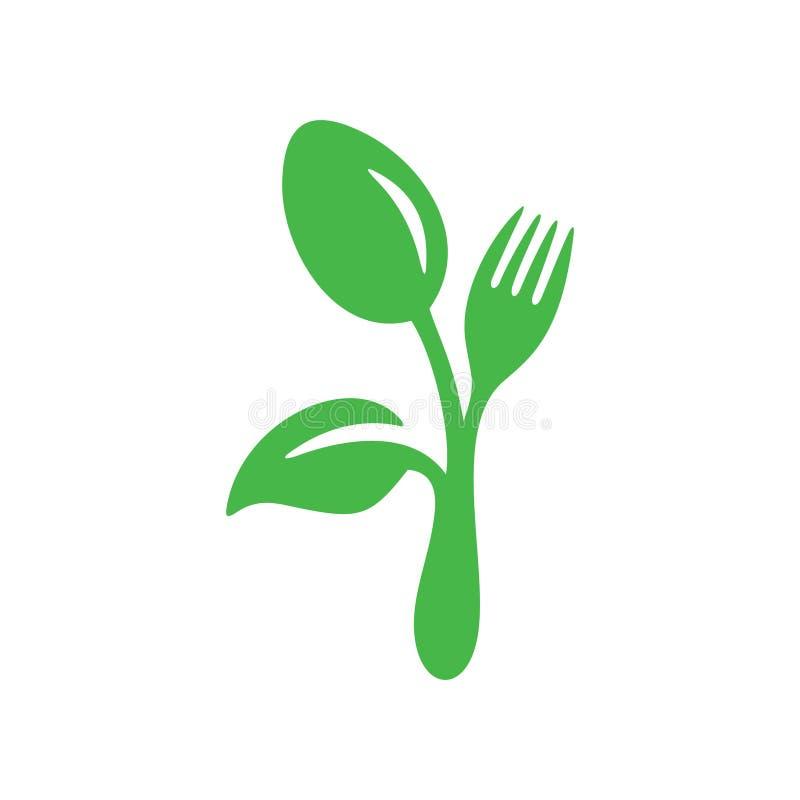 Gutes Lebensmittel Logo Inspiration für gesunden Lebensstil, Naturschützer vektor abbildung