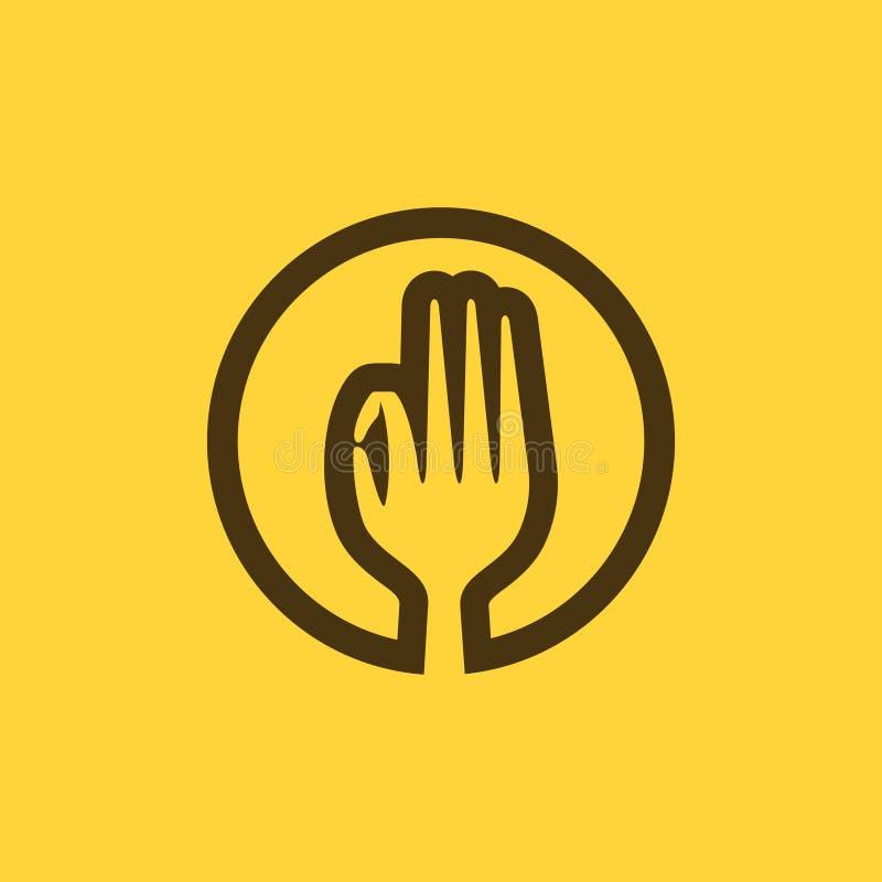 Gutes Lebensmittel Logo Inspiration für Restaurant, Lebensmittel und Getränkefirma oder bewegliche Anwendung stock abbildung