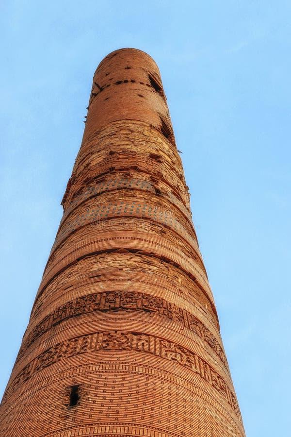 Gutlug Timur Minaret dans Konye Urgench Turkménistan image libre de droits