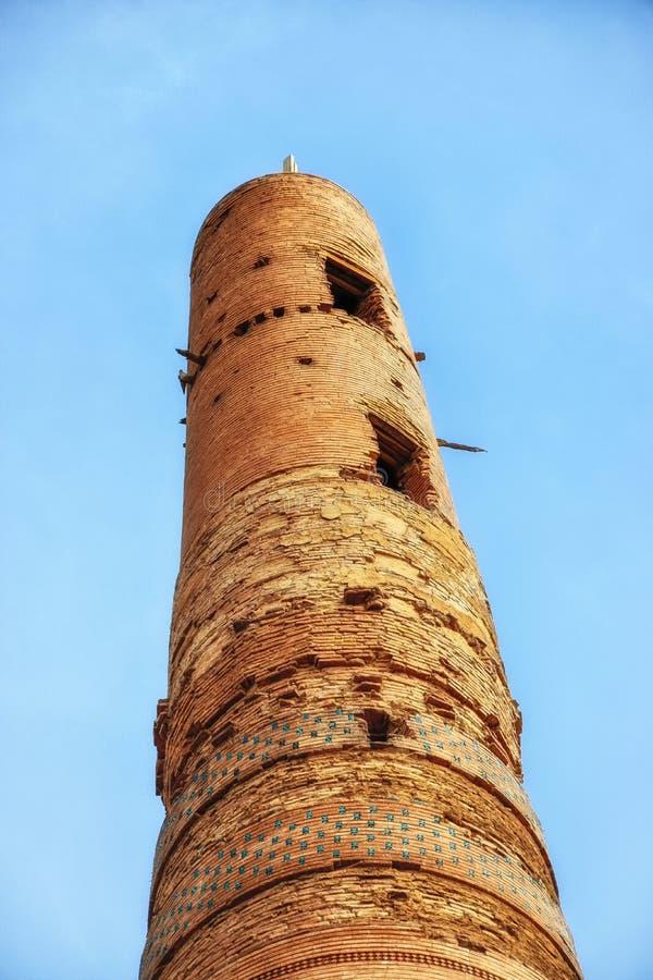 Gutlug Timur Minaret dans Konye Urgench Turkménistan photographie stock