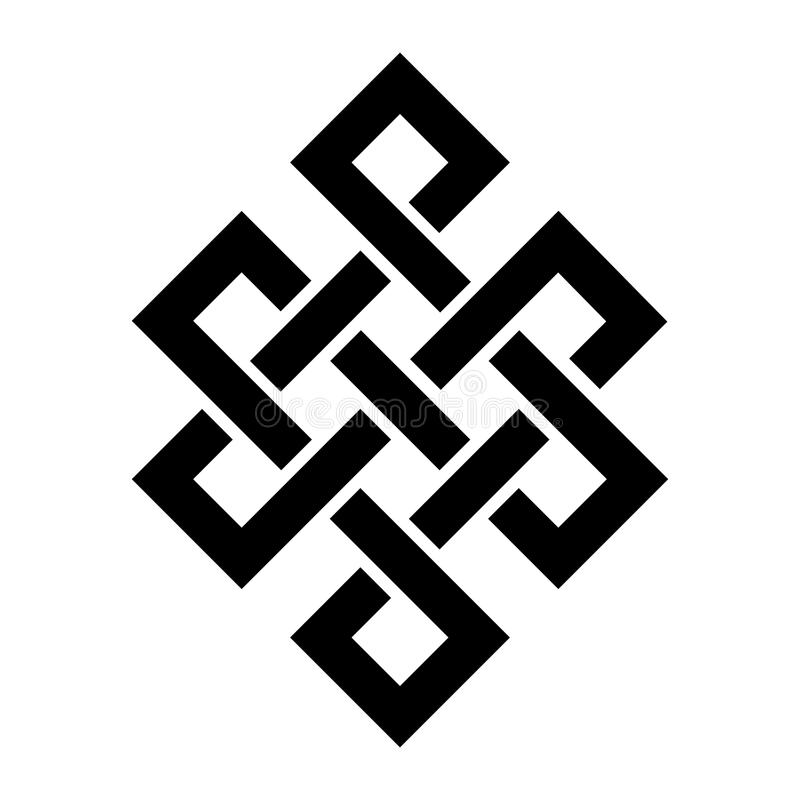 Free Guts Of Buddha &x28;The Eternal Knot&x29; — Symbol Of Inseparability Of Existence In The Universe. Stock Photo - 123379620