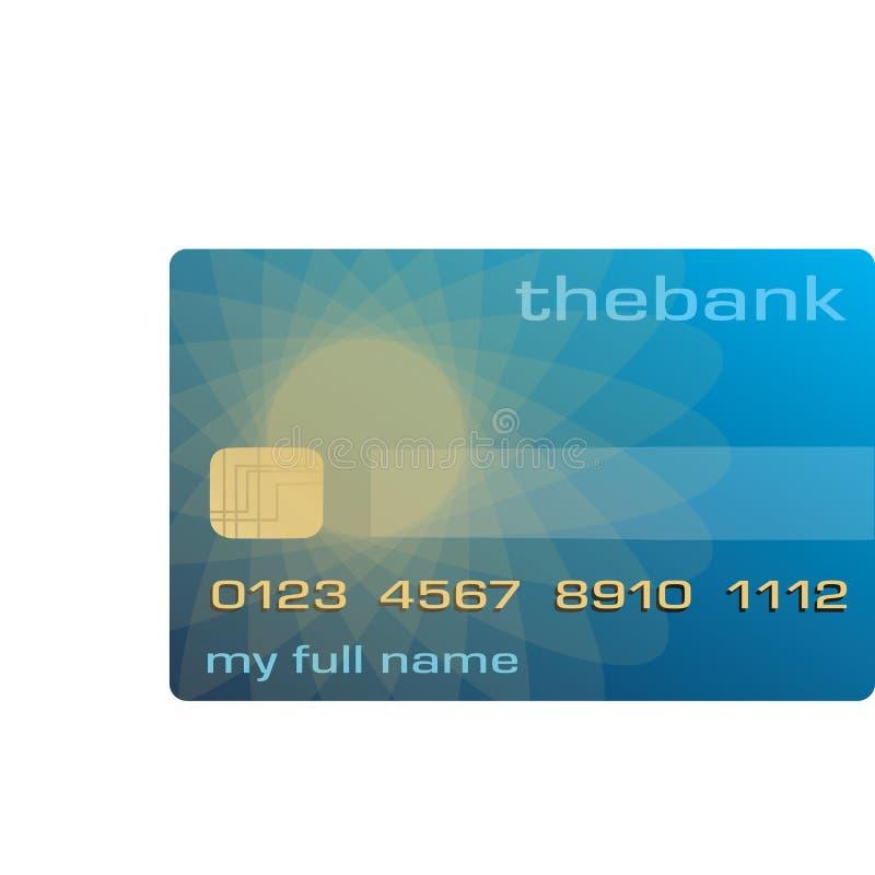 Gutschrift oder Debitkarte stock abbildung