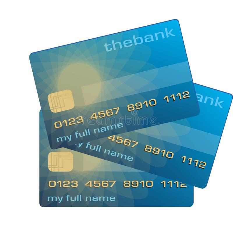 Gutschrift oder Debitkarte lizenzfreie abbildung