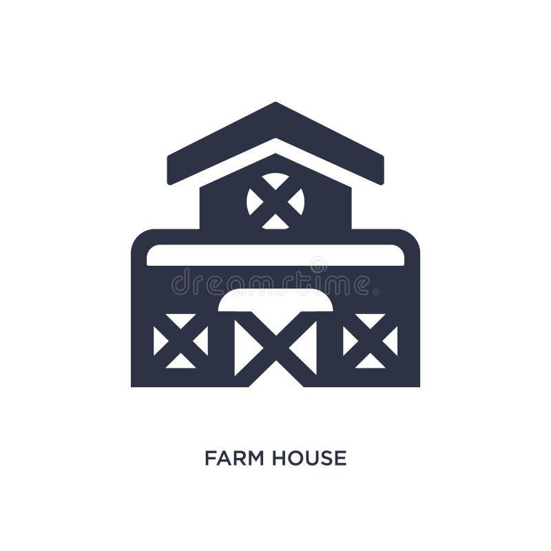 Gutshausikone auf weißem Hintergrund Einfache Elementillustration von der Landwirtschaft des Konzeptes vektor abbildung